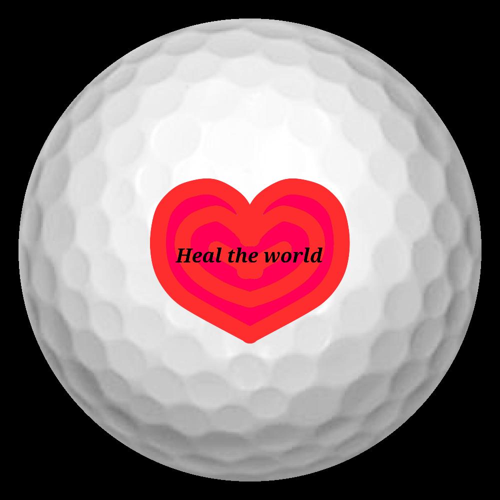 Heal the world~世界を癒そう~ ゴルフボール(3個セット)
