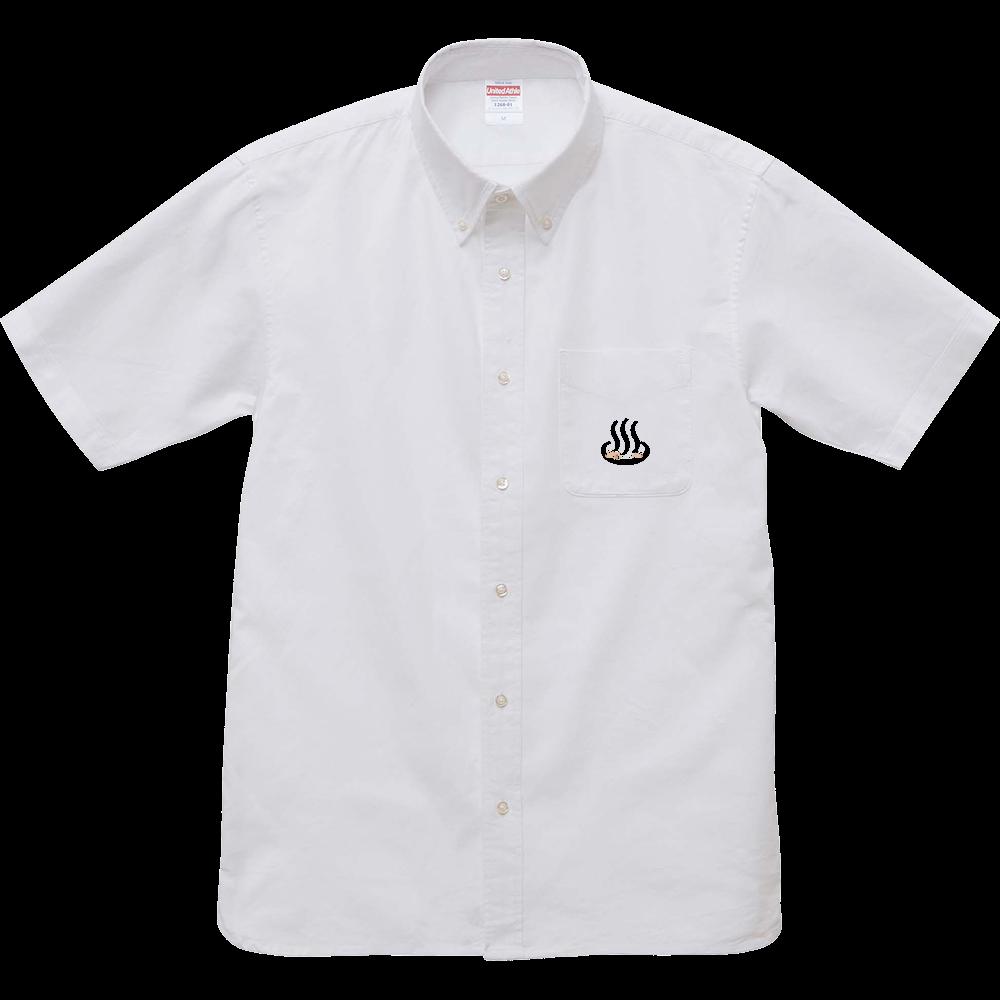 カピバラ温泉 オックスフォードボタンダウンショートスリーブシャツ