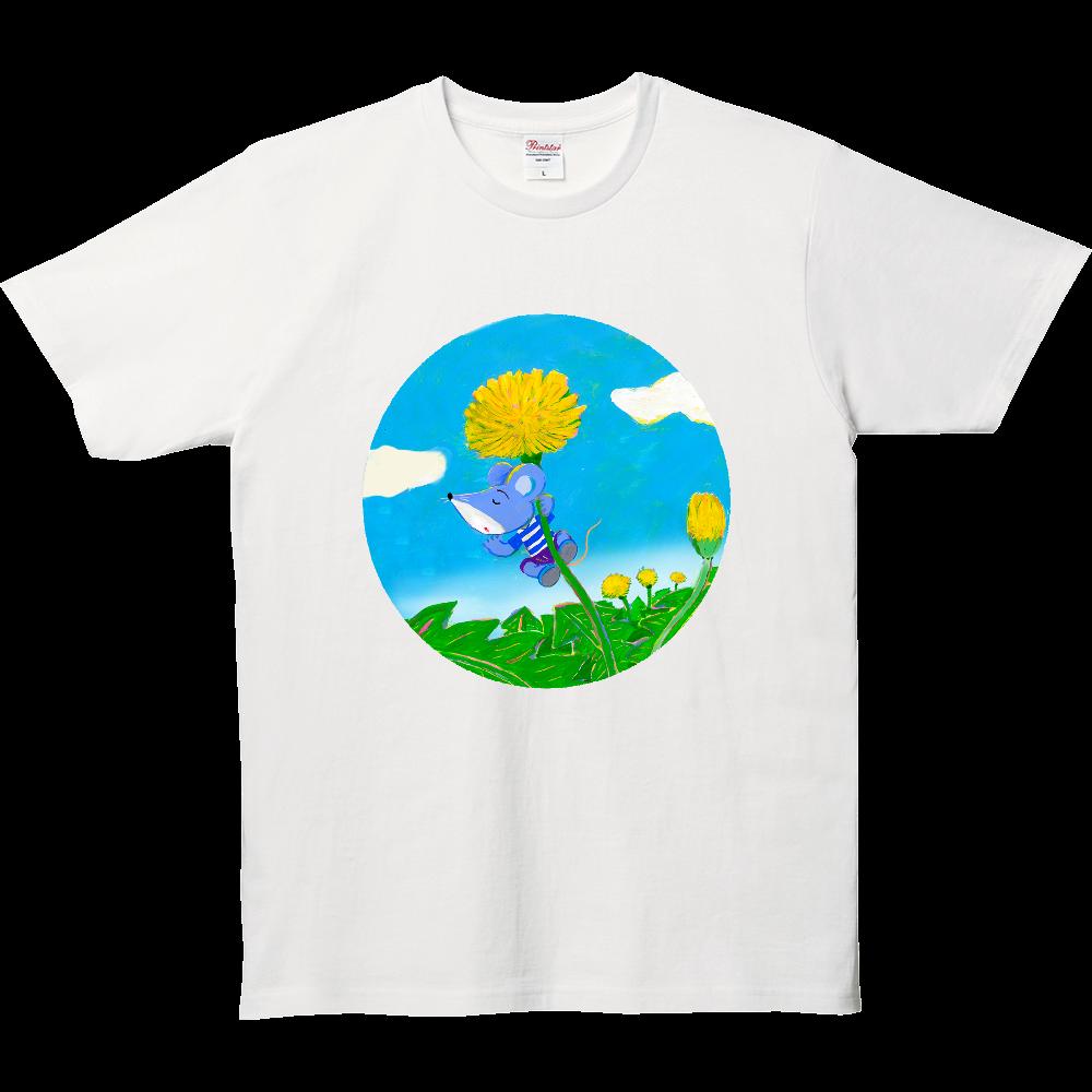 そよ風とタンポポ 5.0オンス ベーシックTシャツ(キッズ)
