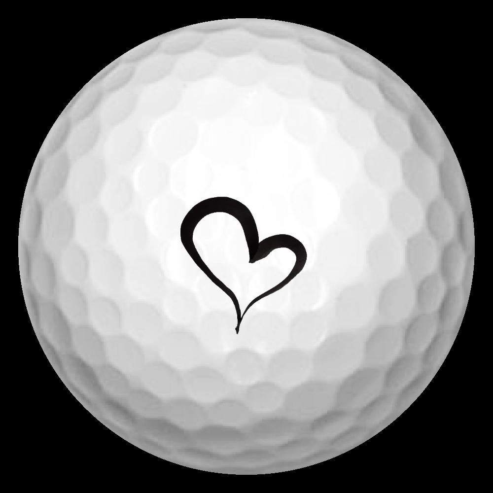 ブラックハート ゴルフボール(3個セット)