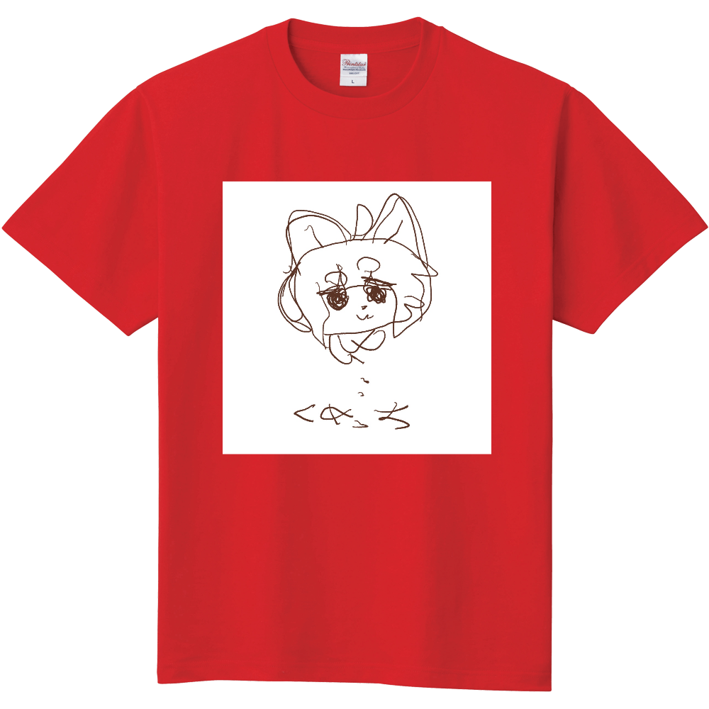 左手くめっち(白背景あり) 定番Tシャツ