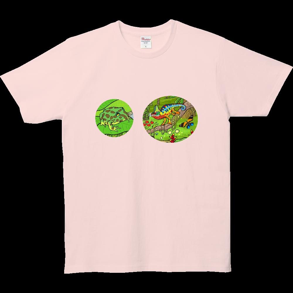 カエルとカメレオン 5.0オンス ベーシックTシャツ(キッズ)