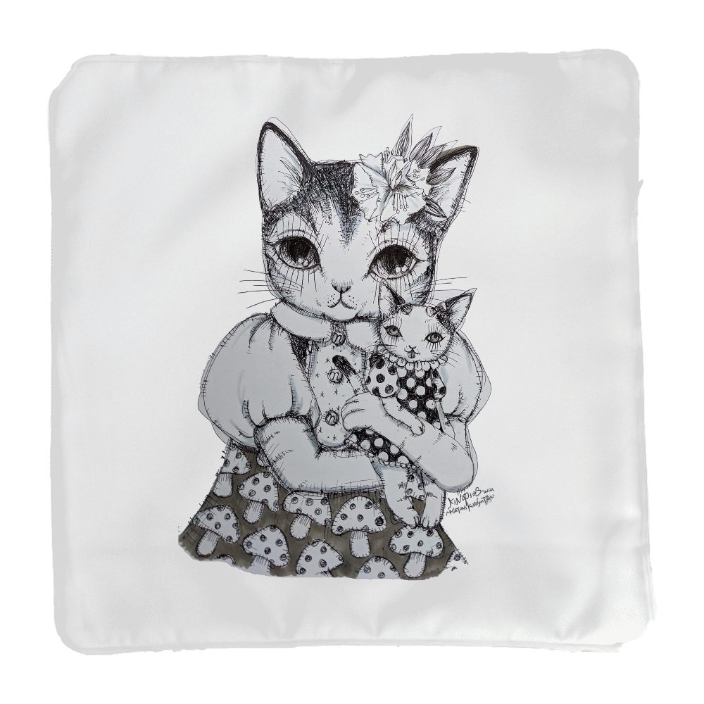 NNN  地域猫活動 クッションカバー小 KINOPI→Sさん作 クッションカバー(小)カバーのみ
