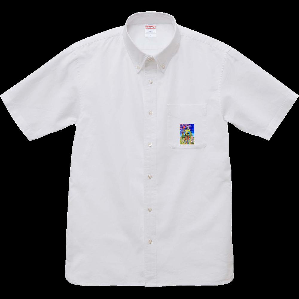 YAMANOHI「山の日は山の恵みに感謝と登山安全と交通安全と災害厄除けを祈願しよう。」.3 オックスフォードボタンダウンショートスリーブシャツ