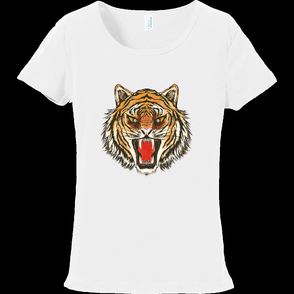 虎の顔 フライスTシャツ