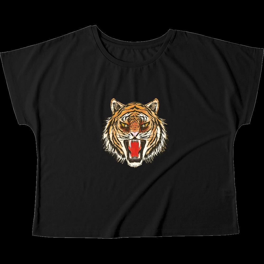 虎の顔 ウィメンズ ドルマン Tシャツ