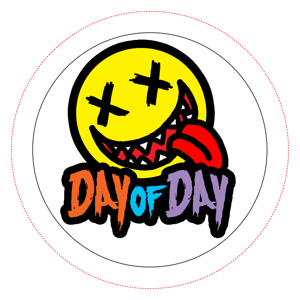 DAY of DAY オリジナル缶バッジ白背景(44mm)