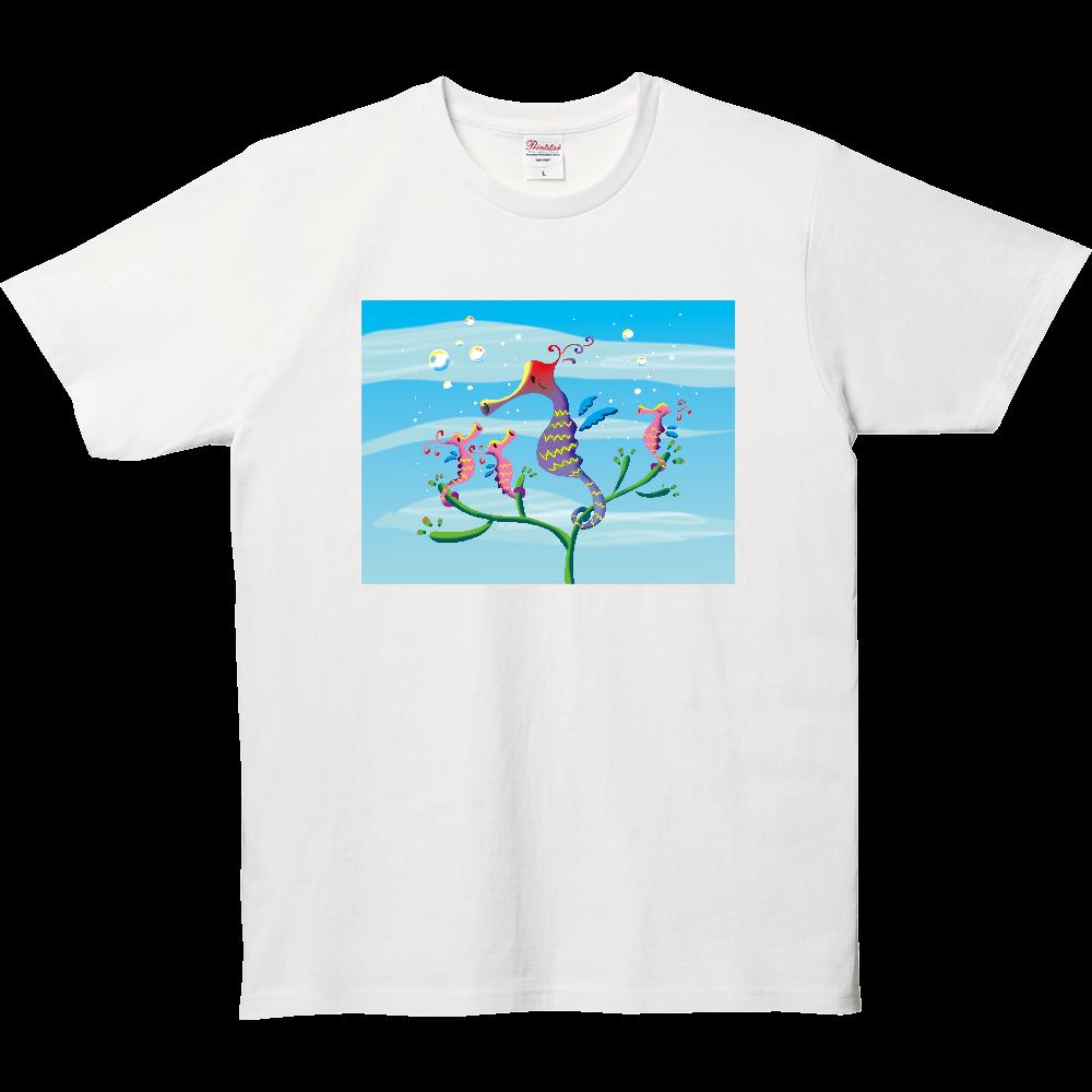 タツノオトシゴファミリー 5.0オンス ベーシックTシャツ(キッズ)