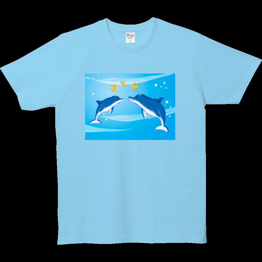 イルカの親子 5.0オンス ベーシックTシャツ(キッズ)