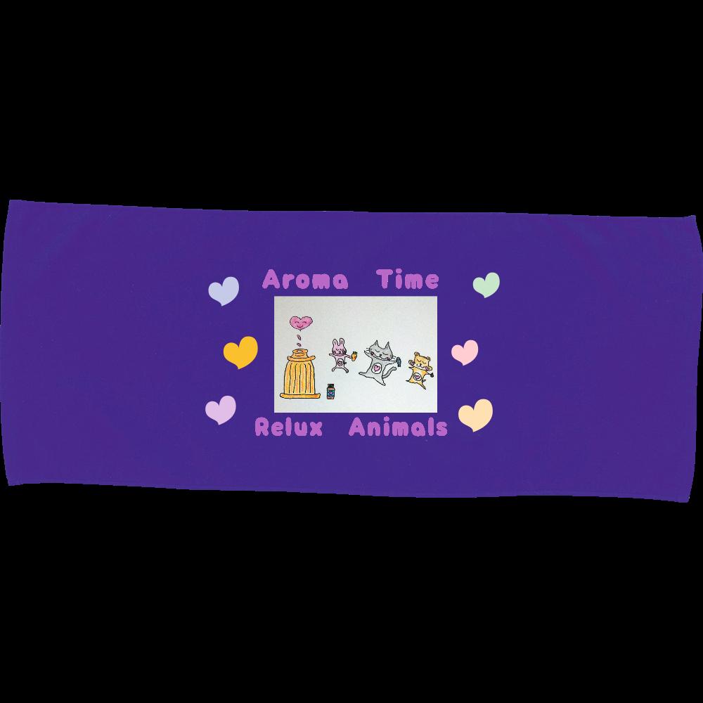 Aroma♡Animals(前面のみ) カラーフェイスタオル