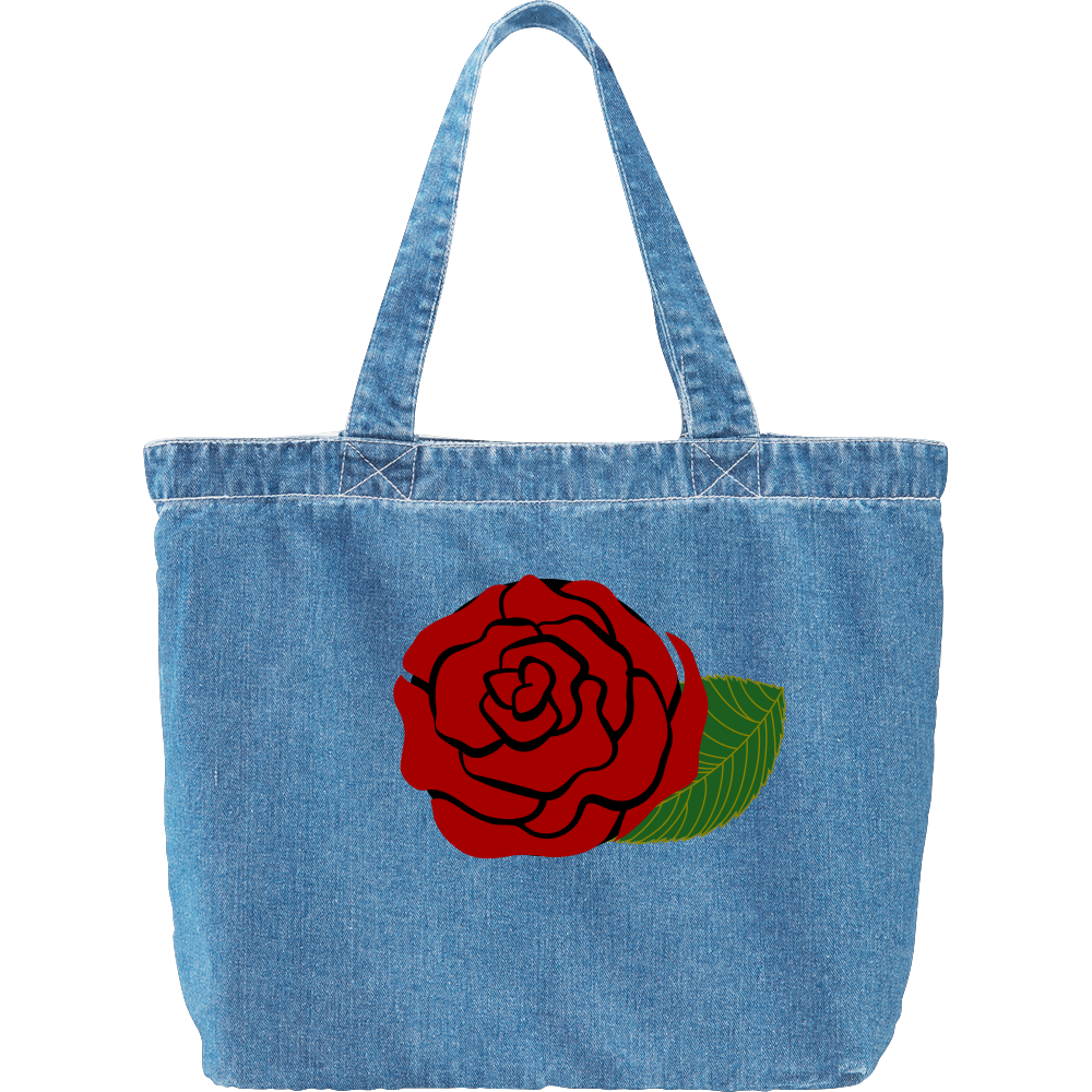 rose デニム ラージ トートバッグ