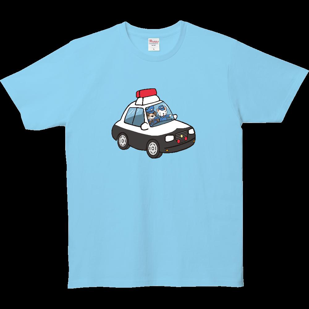 のりものいっぱい、パトカー 5.0オンス ベーシックTシャツ(キッズ)