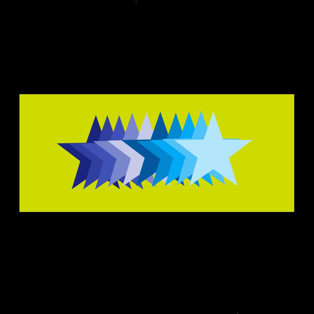 STARS 全面インクジェットフェイスタオル