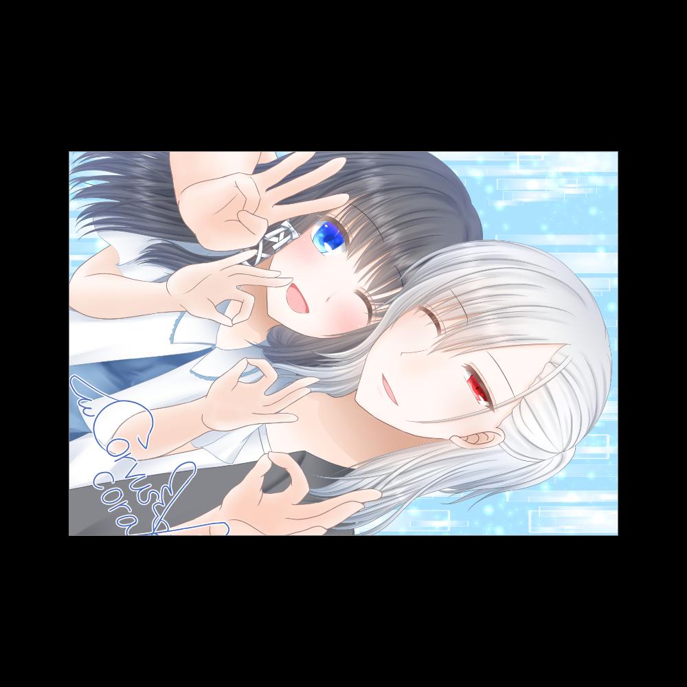 白羽&姫歌 3000 ブランケット - 700 x 1000 (mm) - ポリエステル