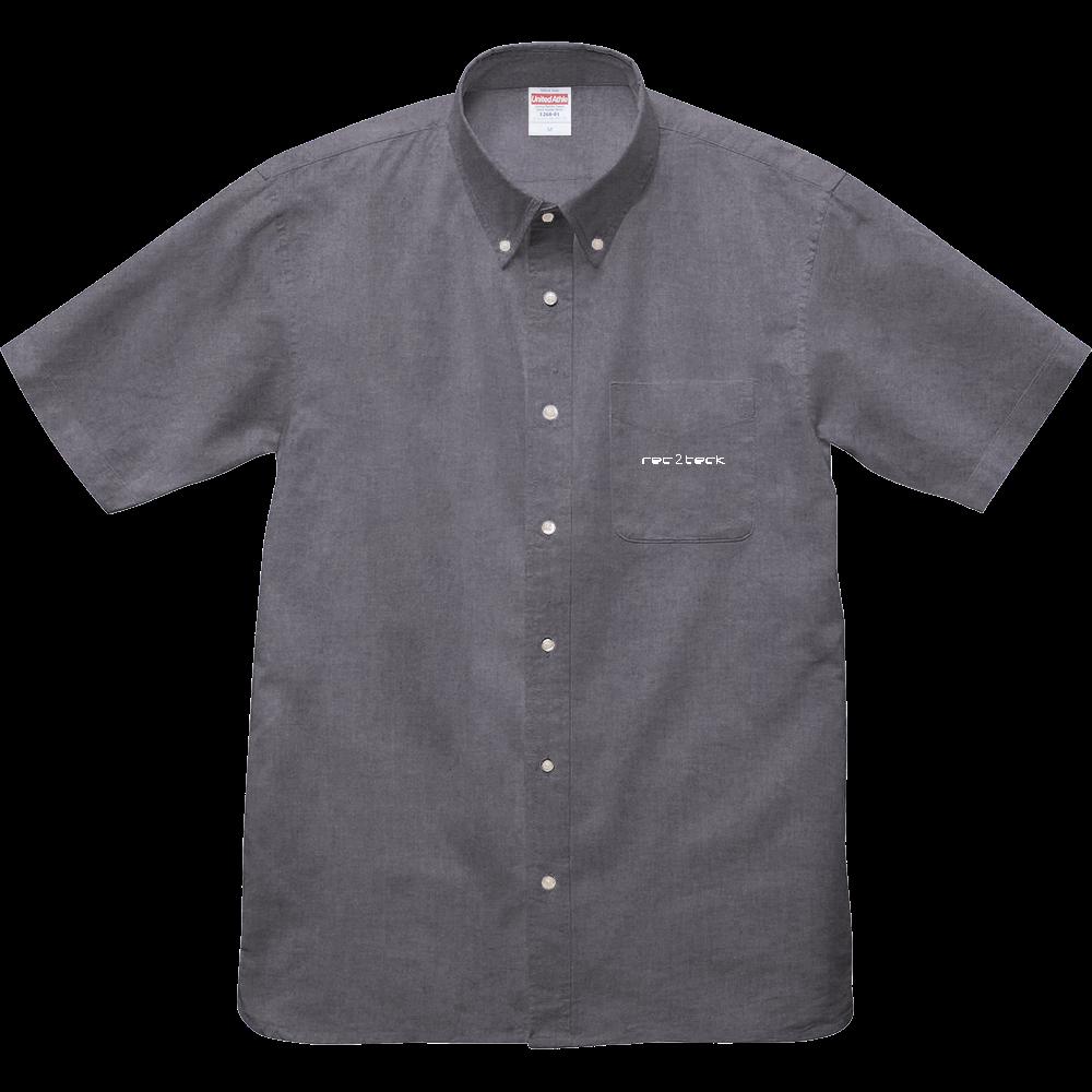 rec2teck シャツ オックスフォードボタンダウンショートスリーブシャツ