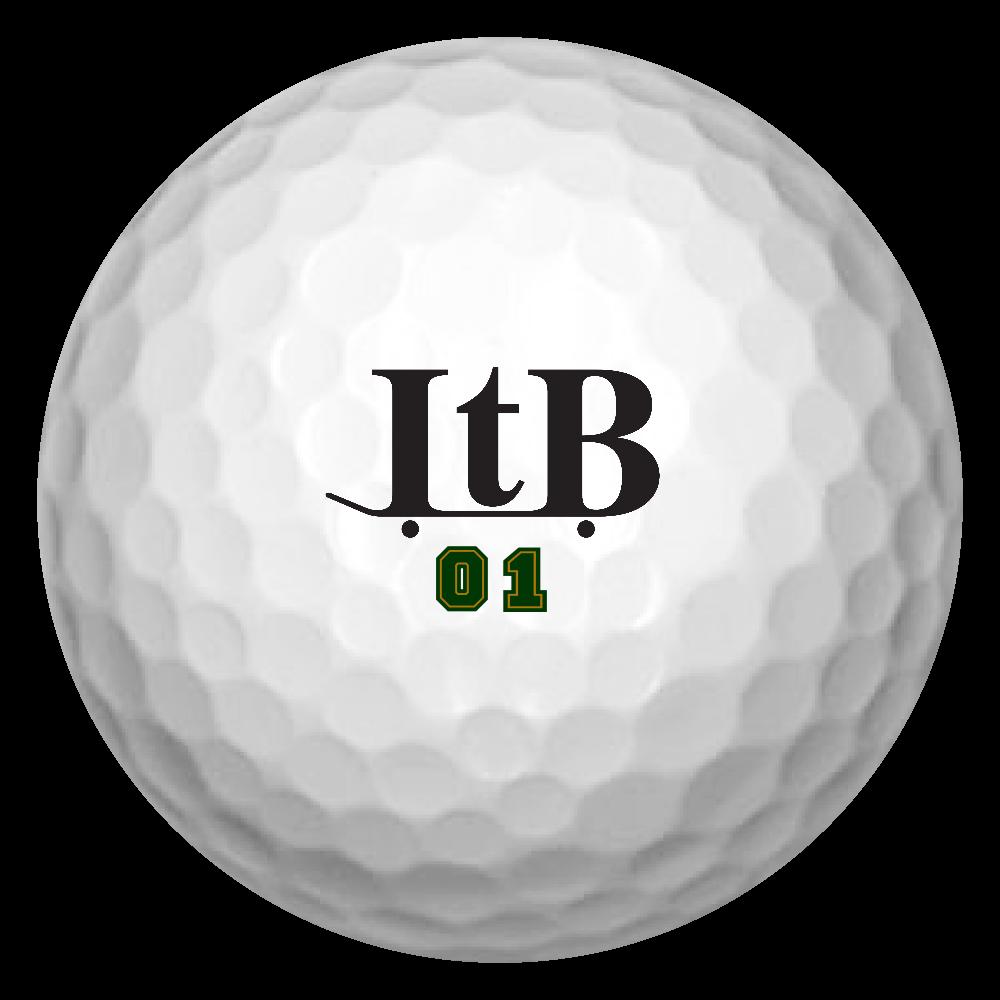 ITB logo Golf Ball 【スケボー】 ゴルフボール(3個セット)