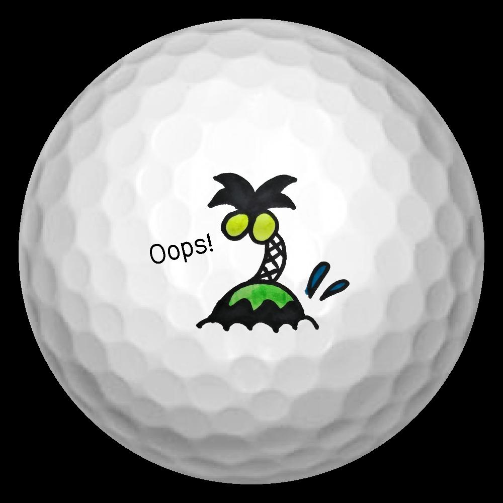 無人島 ゴルフボール(3個セット)