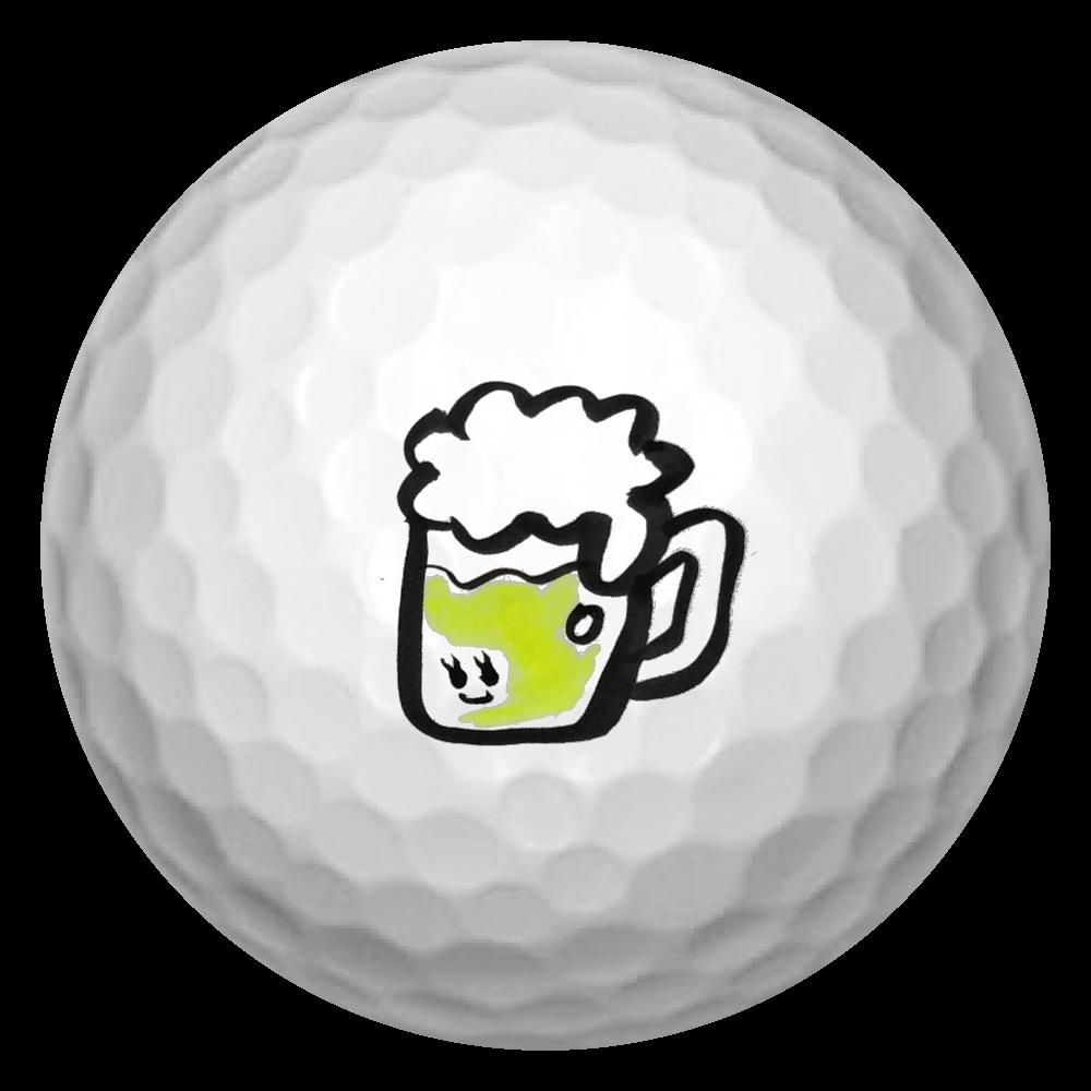 ビール好き ゴルフボール(3個セット)