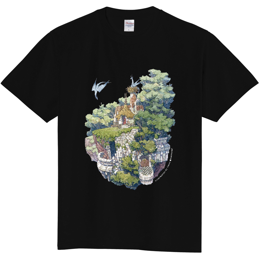 空中廃墟 Tシャツ(サイン白ver) 定番Tシャツ