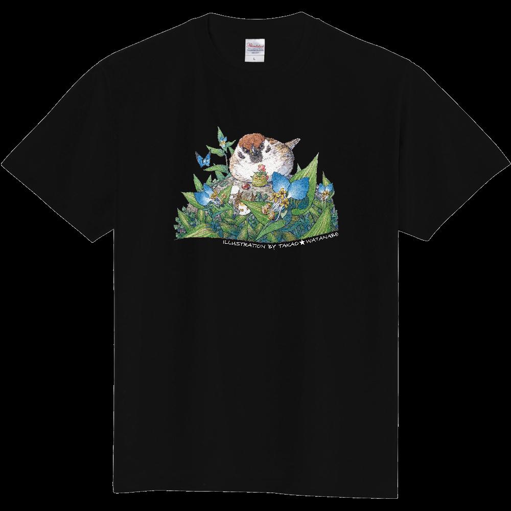 雀とツユクサ  Tシャツ(サイン白ver) 定番Tシャツ