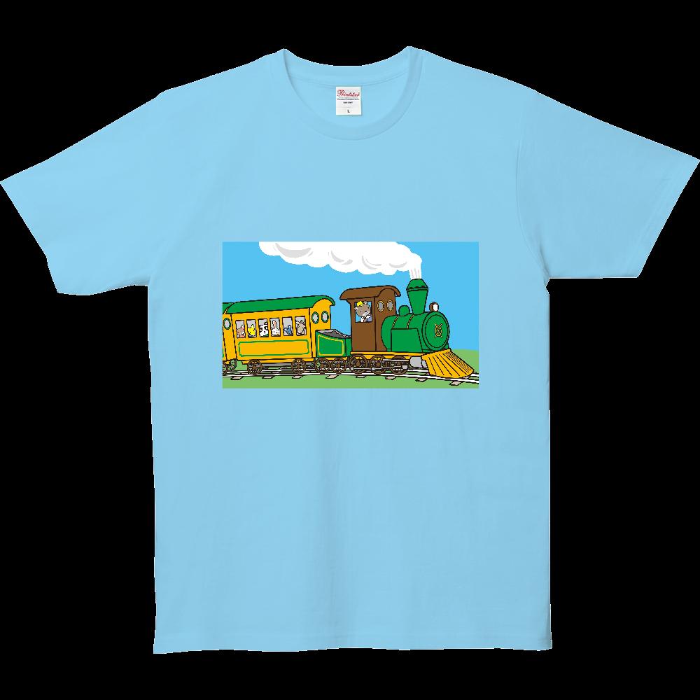 のりものいっぱい、蒸気機関車 5.0オンス ベーシックTシャツ(キッズ)