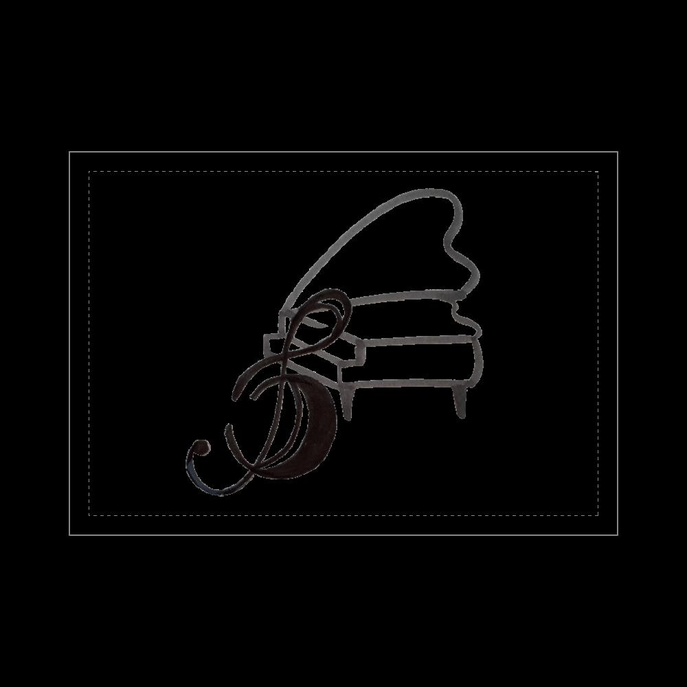 ト音記号と ピアノ ブランケット - 700 x 1000 (mm) - ポリエステル