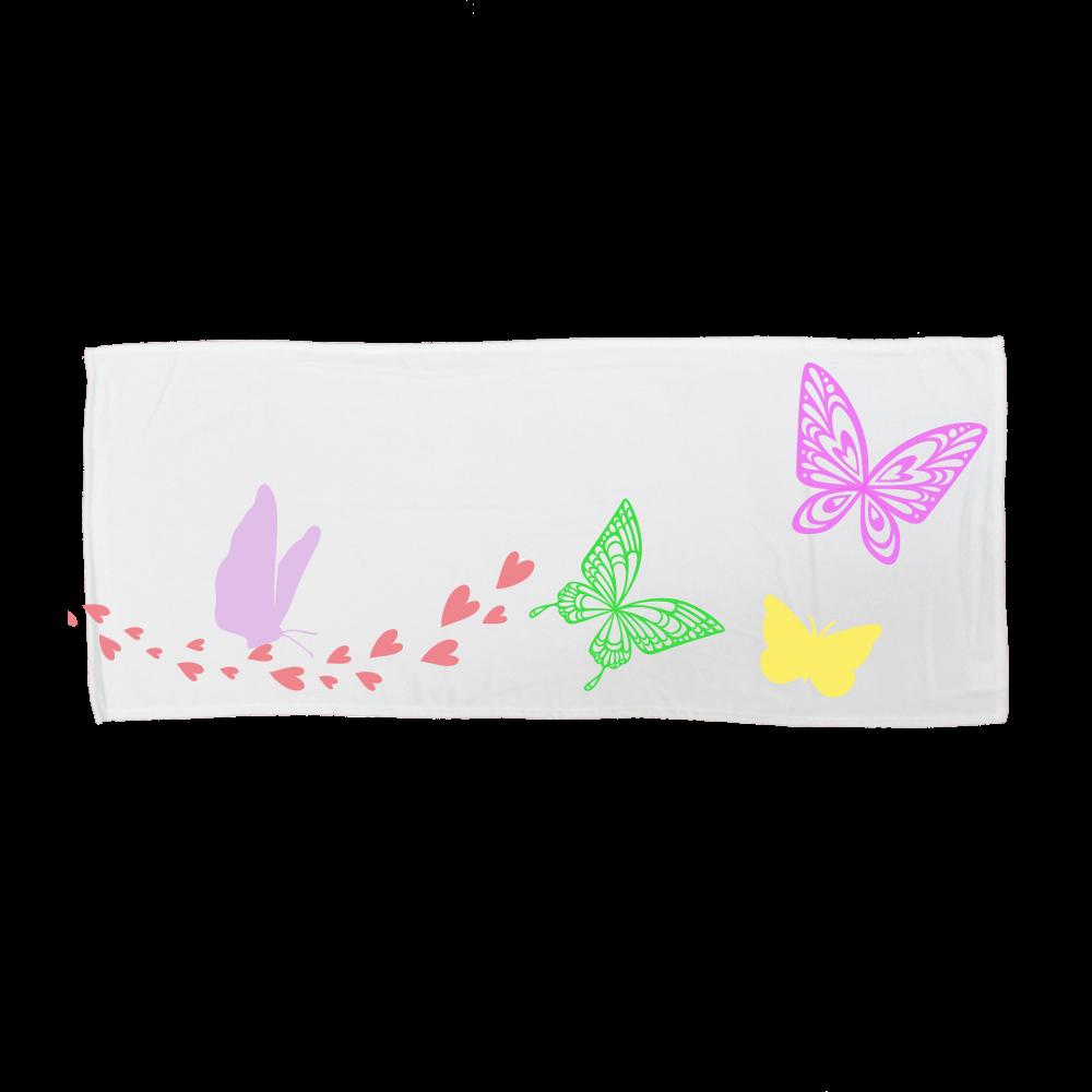 Butterfly 全面インクジェットフェイスタオル