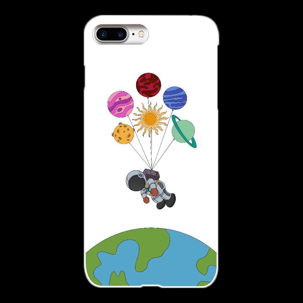 小さな宇宙飛行士 iphone8 plus  クリアケース iPhone8Plus(透明)