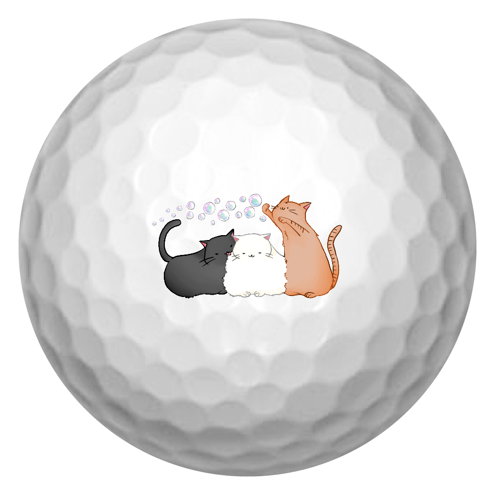のんびりねこ ゴルフボール(3個セット)