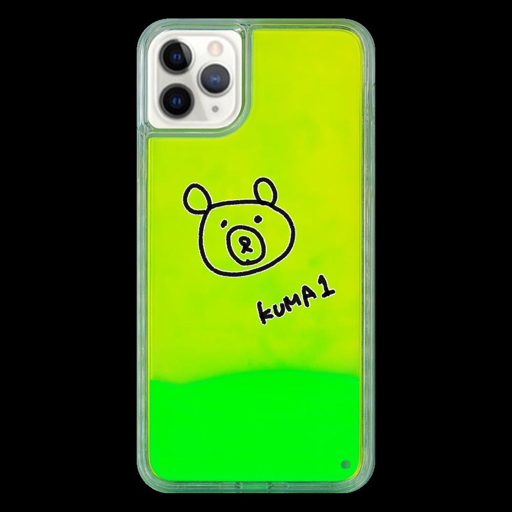 くまのスマホケース ネオン! iPhone11 ProMax ネオンサンドケース
