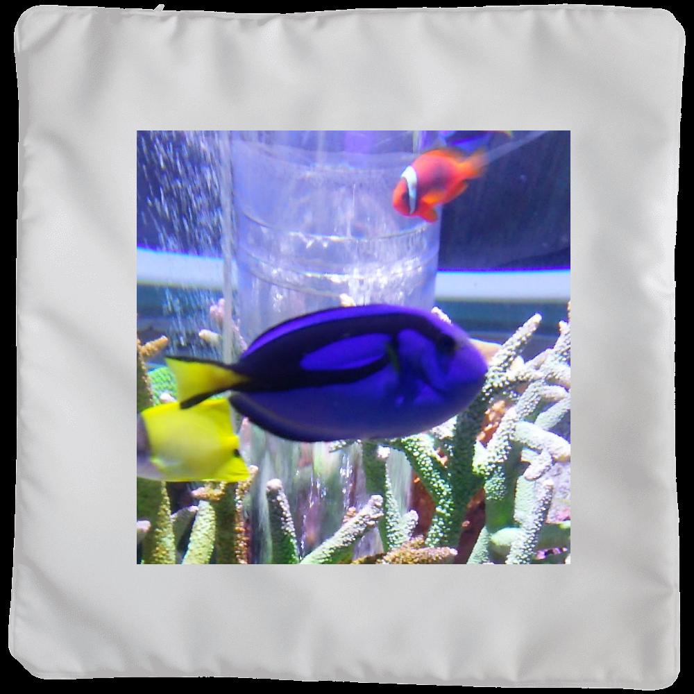 青い魚 クッションカバー(大)カバーのみ