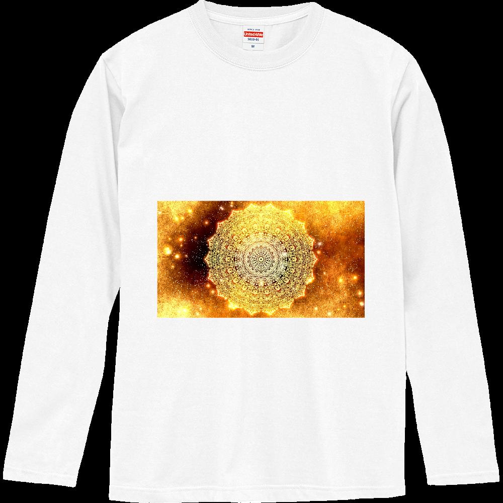 【金運・本来の豊かさを受け取る】曼荼羅アート ロングスリーブTシャツ