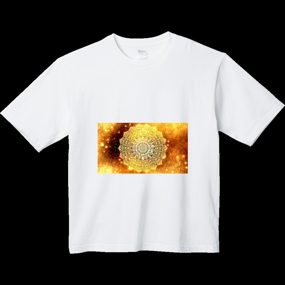 【金運・本来の豊かさを受け取る】曼荼羅アート ヘビーウェイト ビッグシルエットTシャツ
