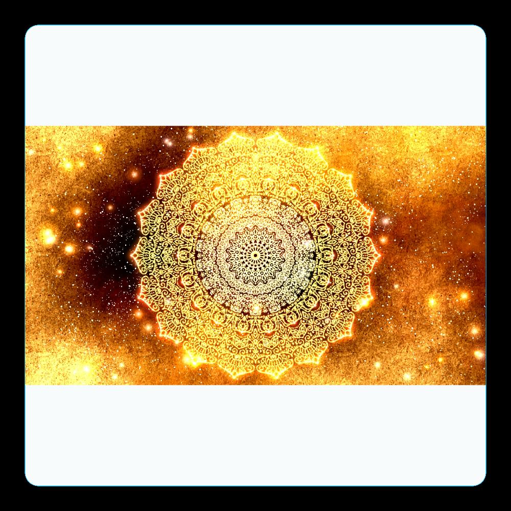 【金運・本来の豊かさを受け取る】曼荼羅アート アクリルコースター(四角)