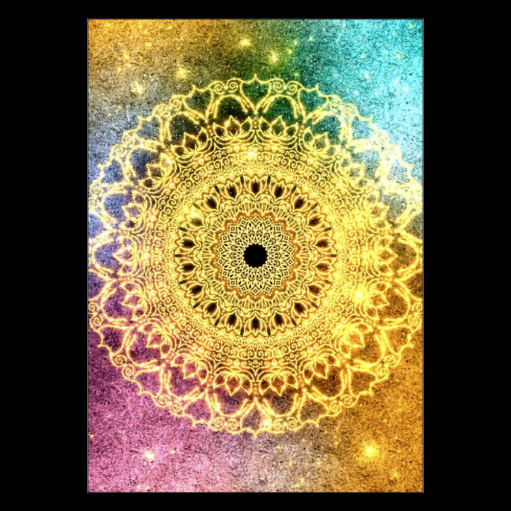 【望む現実へ移行】曼荼羅アート ポスター A2サイズ