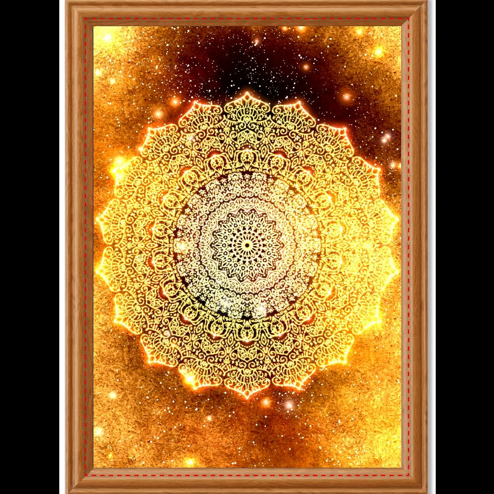 【金運・本来の豊かさを受け取る】曼荼羅アート アートデザインパネル (A4 光沢紙)