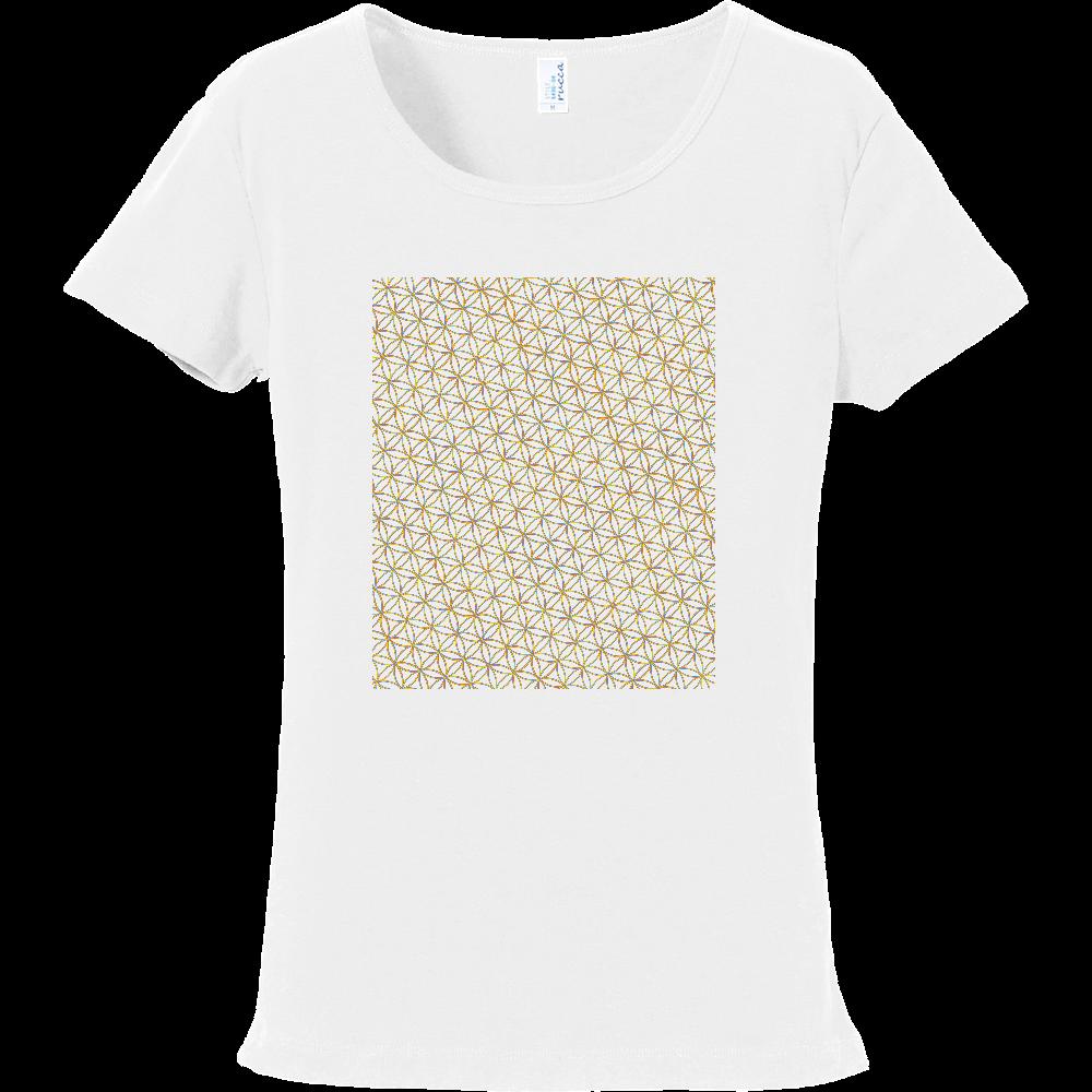 フラワーオブライフ 虹ライン フライスTシャツ フライスTシャツ