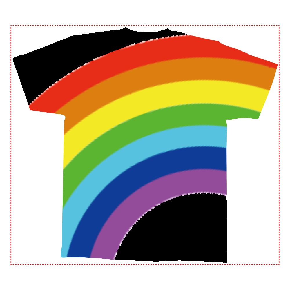 Rainbow 全面インクジェットTシャツ(M)