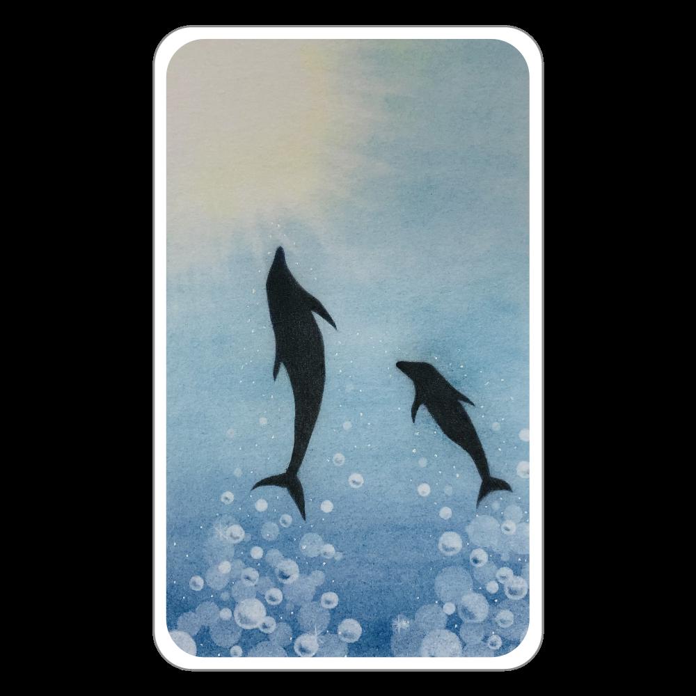 イルカの親子 フラットパスケース
