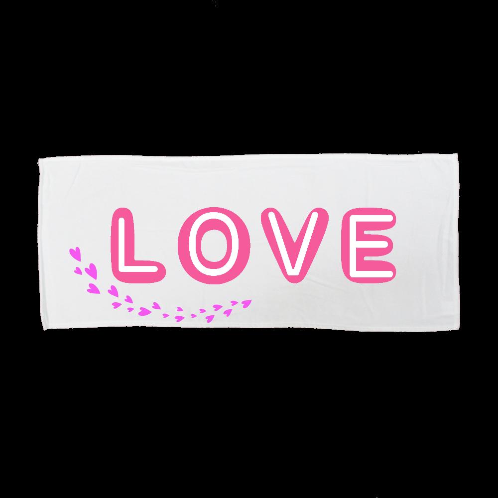 Love 全面インクジェットフェイスタオル