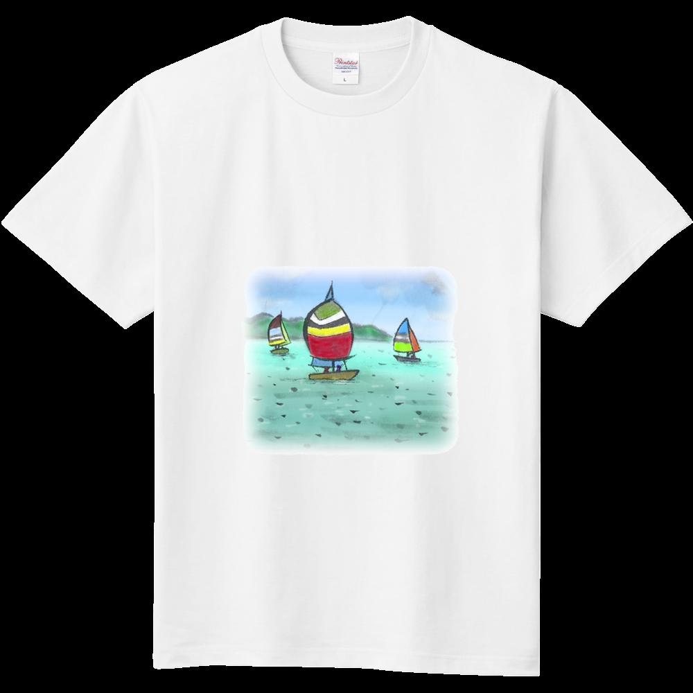 定番Tシャツ デジタル墨絵ヨット 定番Tシャツ