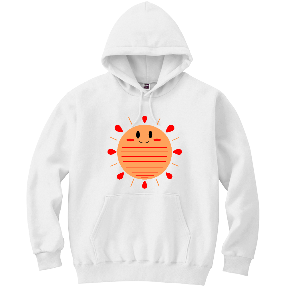 太陽パーカー 軽量プルパーカー (長袖プリント)