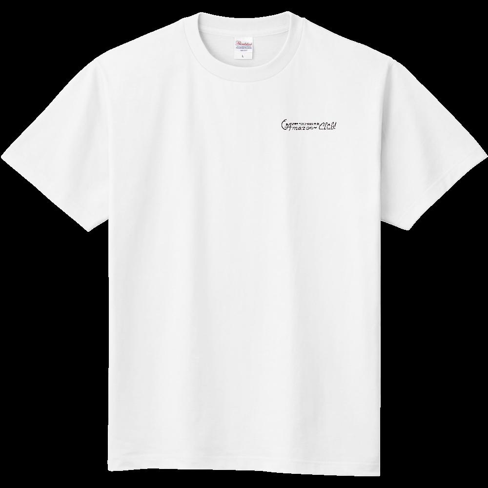 アマゾンクラブ 胸プリントTシャツ ホワイト 定番Tシャツ