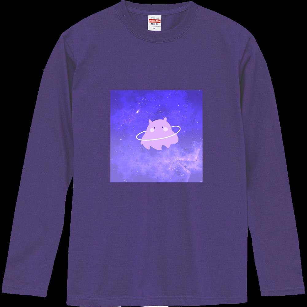 きらきらの宇宙とかわいいめんだこさん ロングスリーブTシャツ