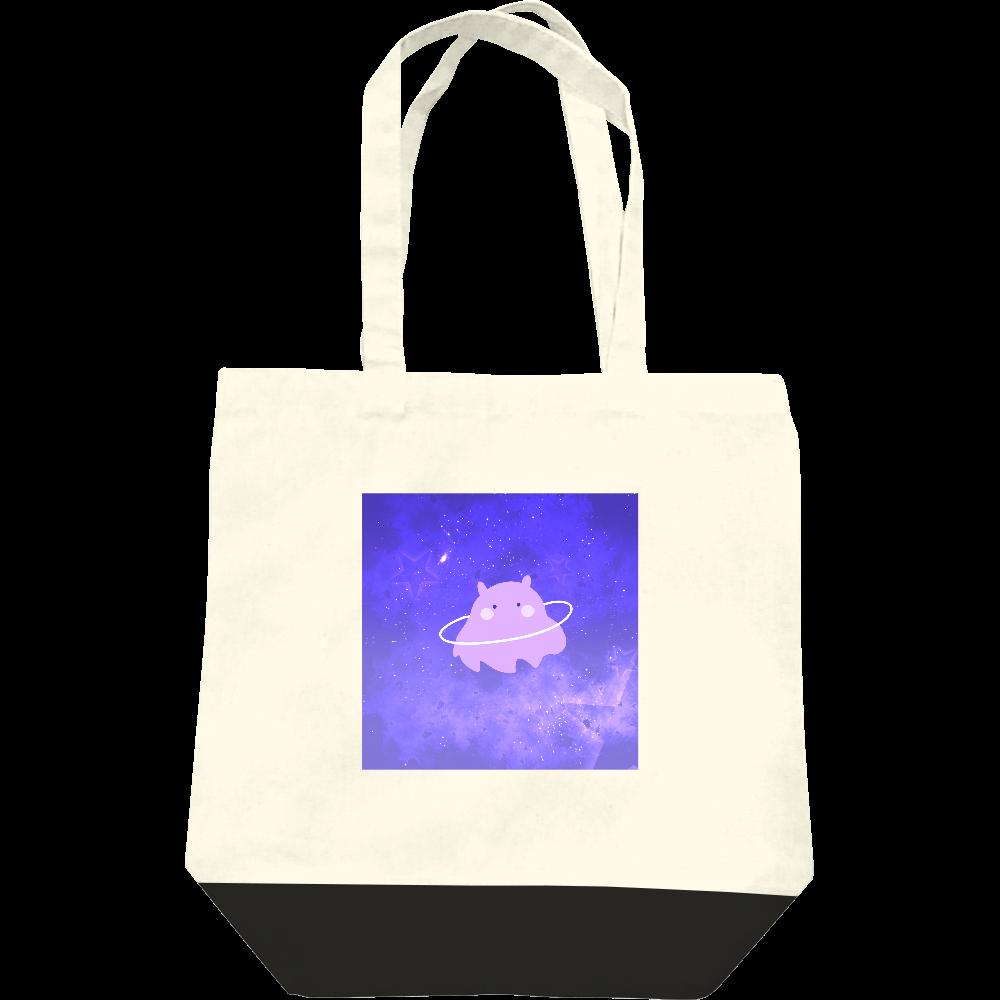 きらきらの宇宙とかわいいめんだこさん レギュラーキャンバストートバッグ(M)