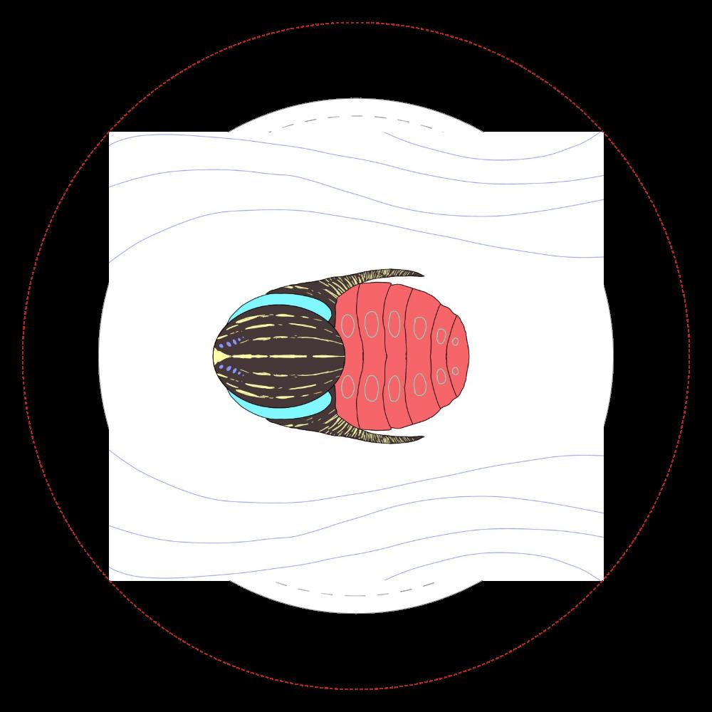 三葉虫1  44㎜缶バッジ
