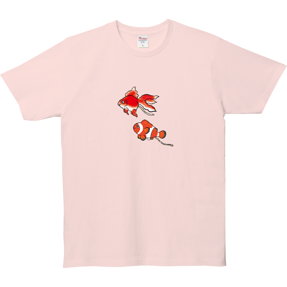 ウンチTシャツ、金魚とクマノミ 5.0オンス ベーシックTシャツ(キッズ)
