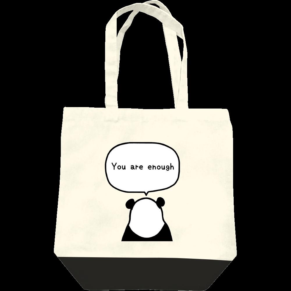 パンダの後ろ姿 レギュラーキャンバストートバッグ(M)