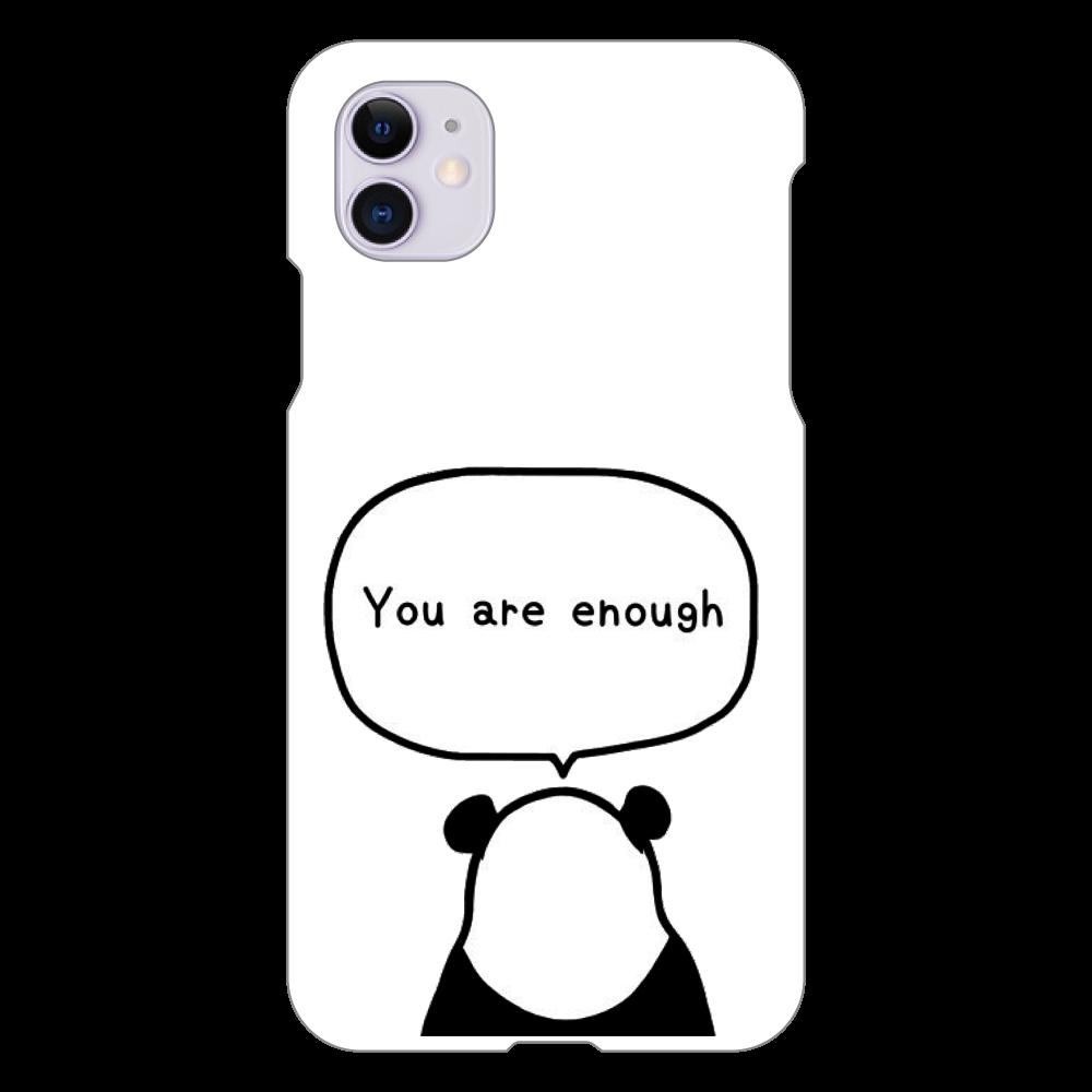 パンダの後ろ姿 iPhone 11(白)