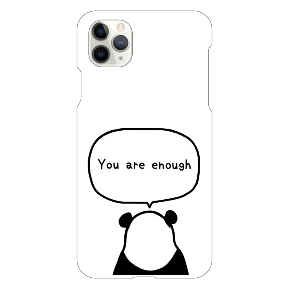 パンダの後ろ姿 iPhone11 ProMax(白)
